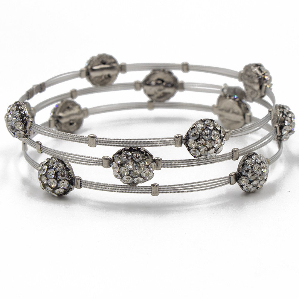 Seasonal Whispers Crystal Knot Stackable Bracelet - dolly mama boutique