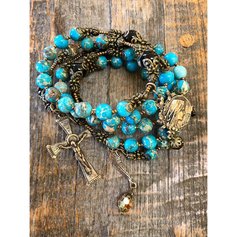 Lady of Lourdes Wrap Bracelet - dolly mama boutique