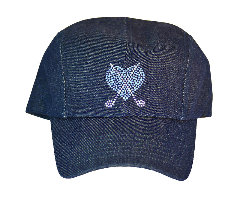 Rachel Baseball Hat, Heart & Crossed Clubs - dolly mama boutique