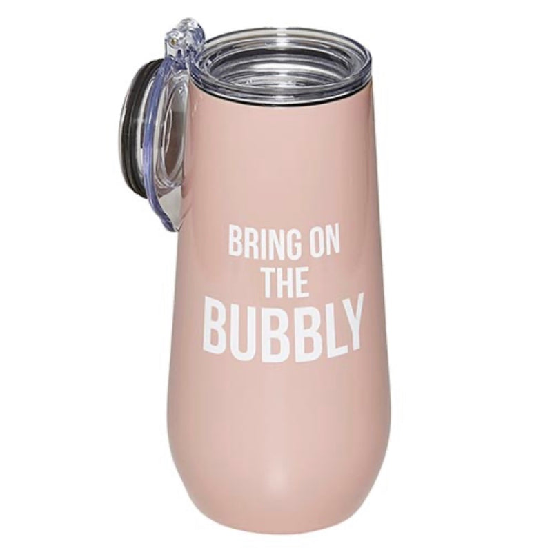 12 oz Champagne Tumbler - Bring On The Bubbly - dolly mama boutique