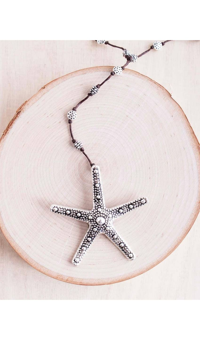 Silver Bumpy Starfish Necklace