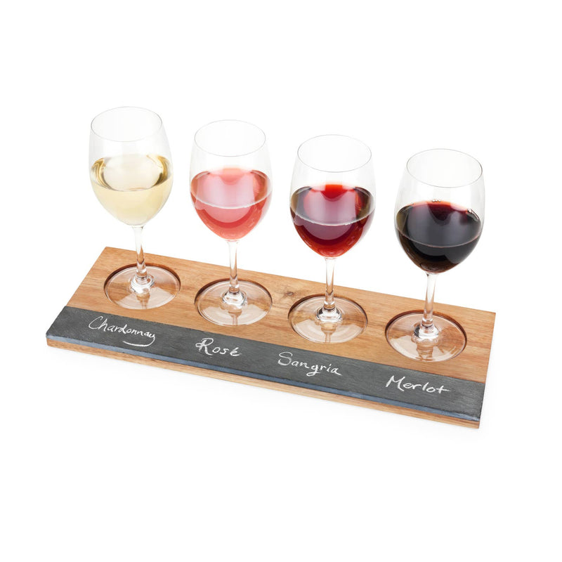 Wood Wine Flight Board - dolly mama boutique