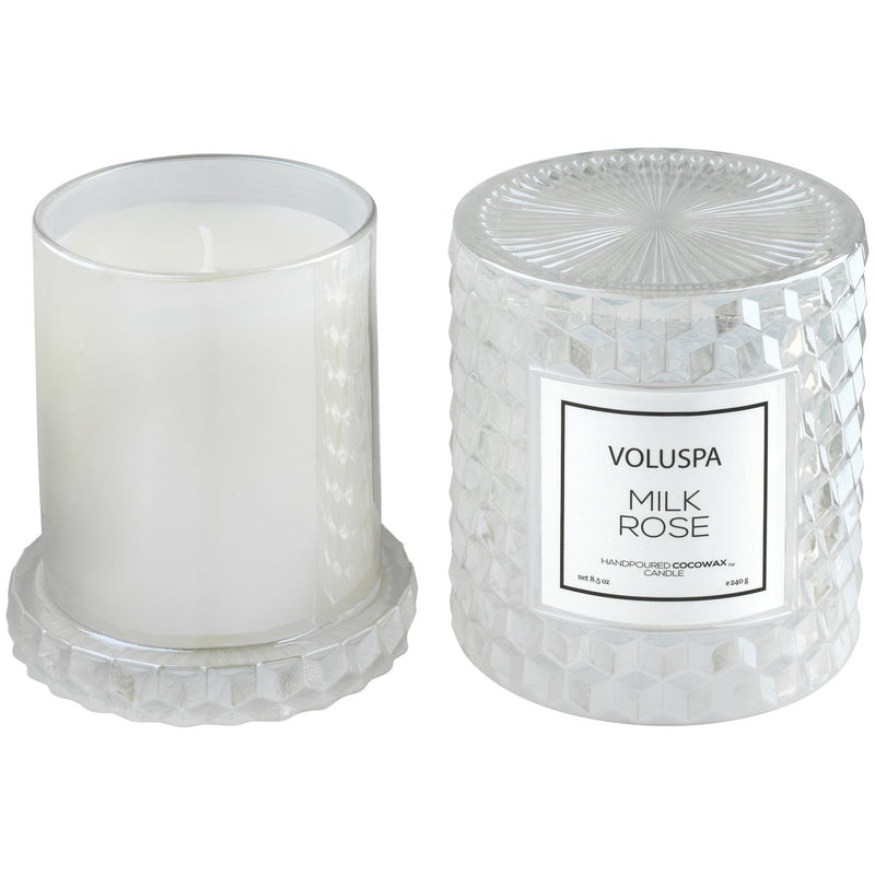 Milk Rose Cloche Candle - dolly mama boutique