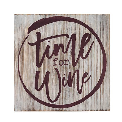 Time For Wine Decorative Plaque - dolly mama boutique
