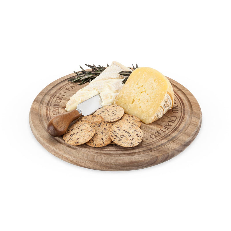 Rounded Cheese Board & Knife Set - dolly mama boutique