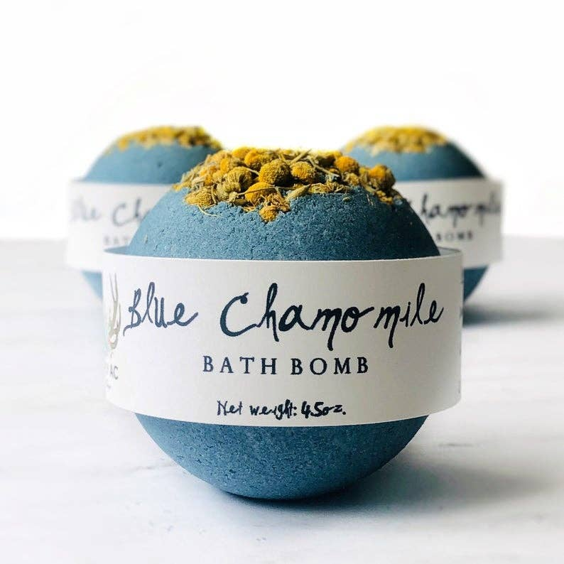 Blue Camomile Bath Bomb - dolly mama boutique