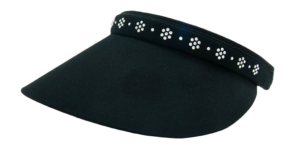 Phoebe Clip-On Visor, Classic Flower - dolly mama boutique