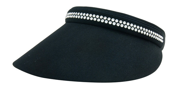 Kaitlin Clip-On Crystal Visor - dolly mama boutique