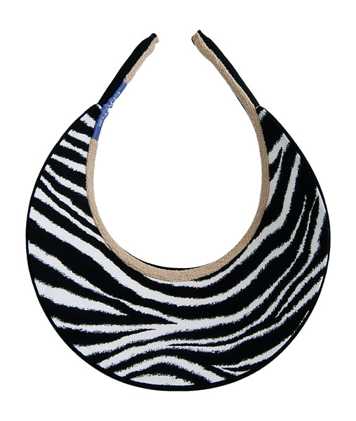 Audrey Clip-On Visor, Animal Print