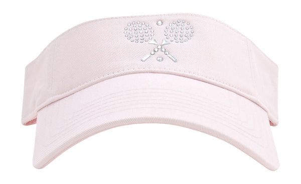 Serena Sport Visor - Crossed Rackets - dolly mama boutique