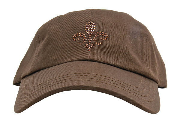 Rachel Baseball Hat, Fleur De Lis - dolly mama boutique