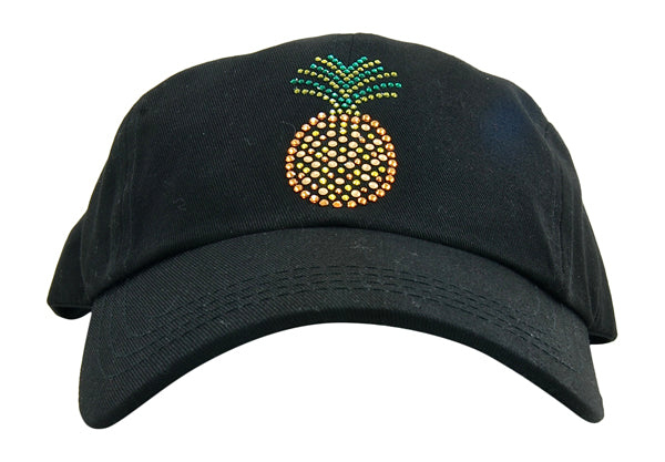 Rachel Baseball Hat, Crystal Pineapple