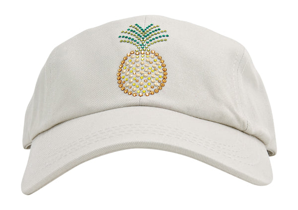 Rachel Baseball Hat, Crystal Pineapple - dolly mama boutique