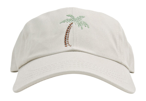 Rachel Baseball Hat, Crystal Palm - dolly mama boutique