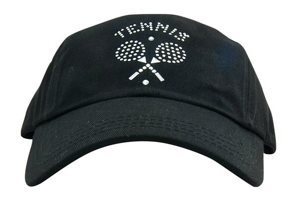 Rachel Baseball Hat, Crossed Rackets