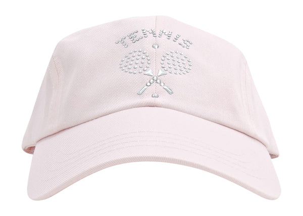 Rachel Baseball Hat - Tennis Emblem - dolly mama boutique
