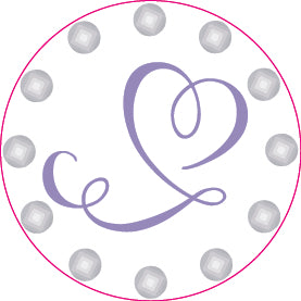Bella Crystal Dolly Heart Ball Marker