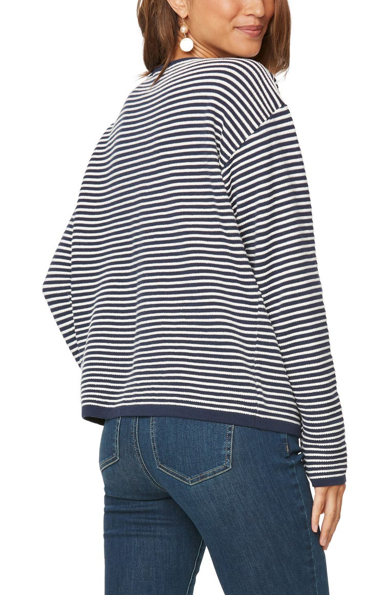 NYDJ Stripped Cotton Pullover - dolly mama boutique