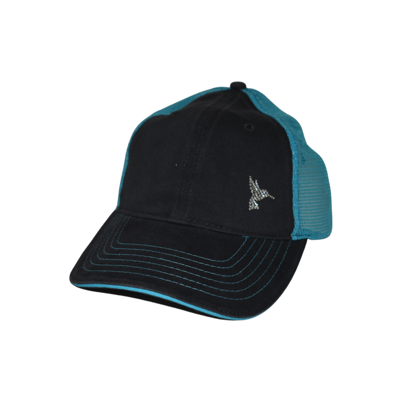 Maddie Trucker Hat - Humming Bird - dolly mama boutique