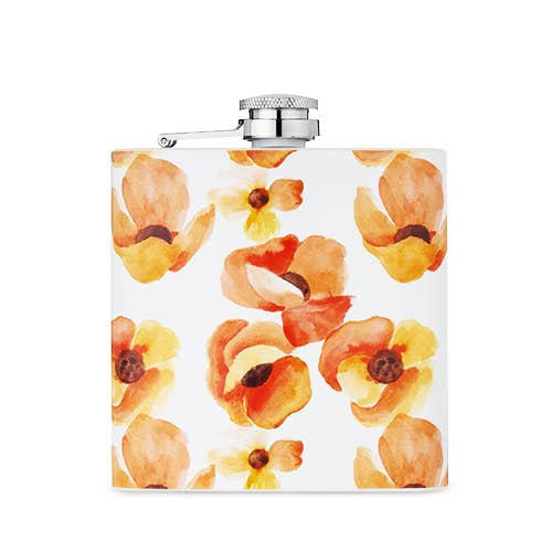 Garden Party Poppy Flask