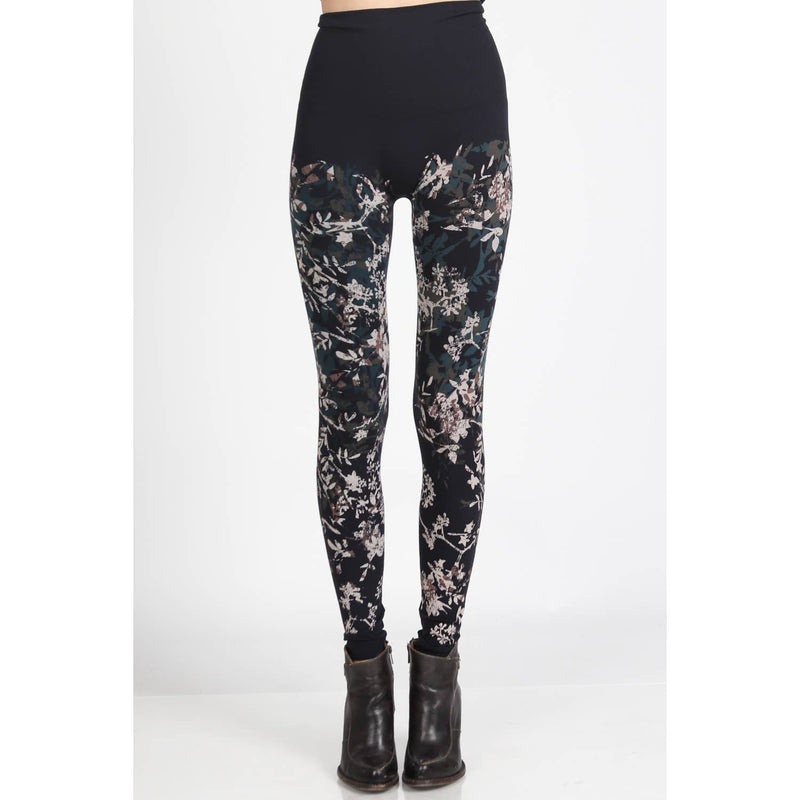High Waist Leggings with Floral Print - dolly mama boutique