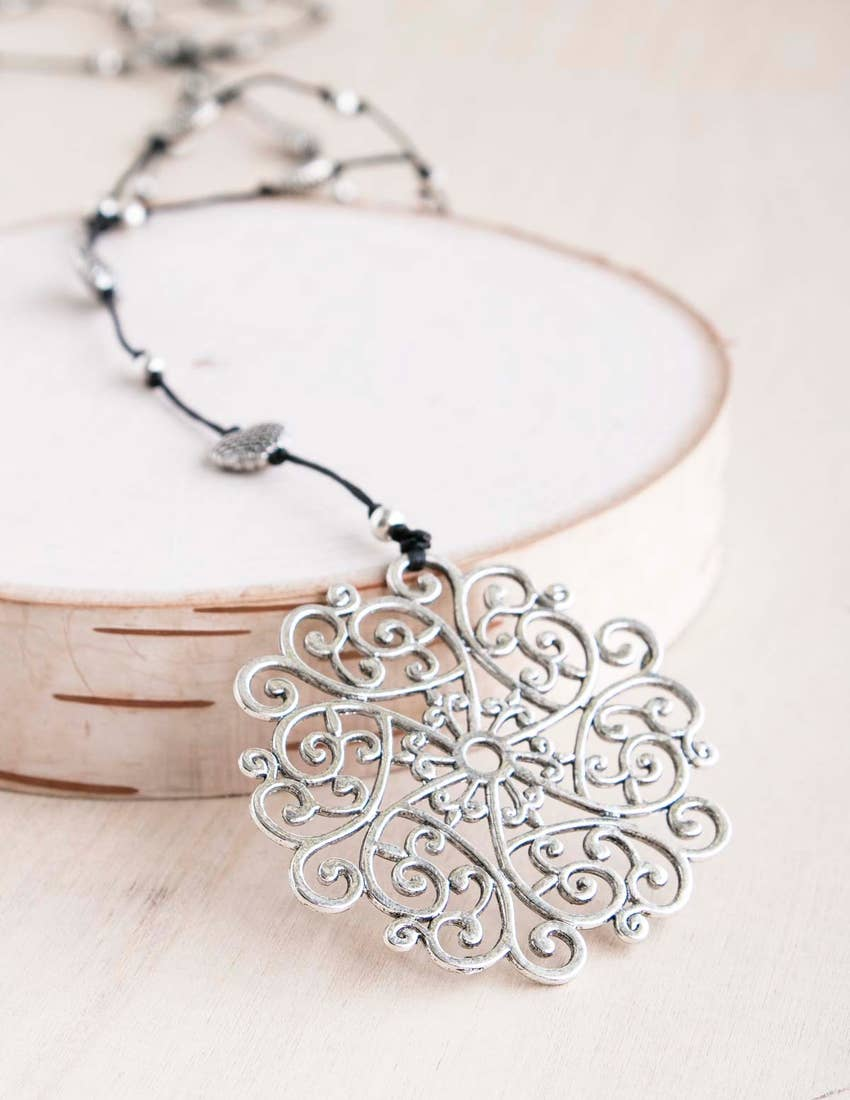 Silver Dream Catcher Alloy Necklace