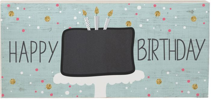 Happy Birthday Chalk Board Sign - dolly mama boutique