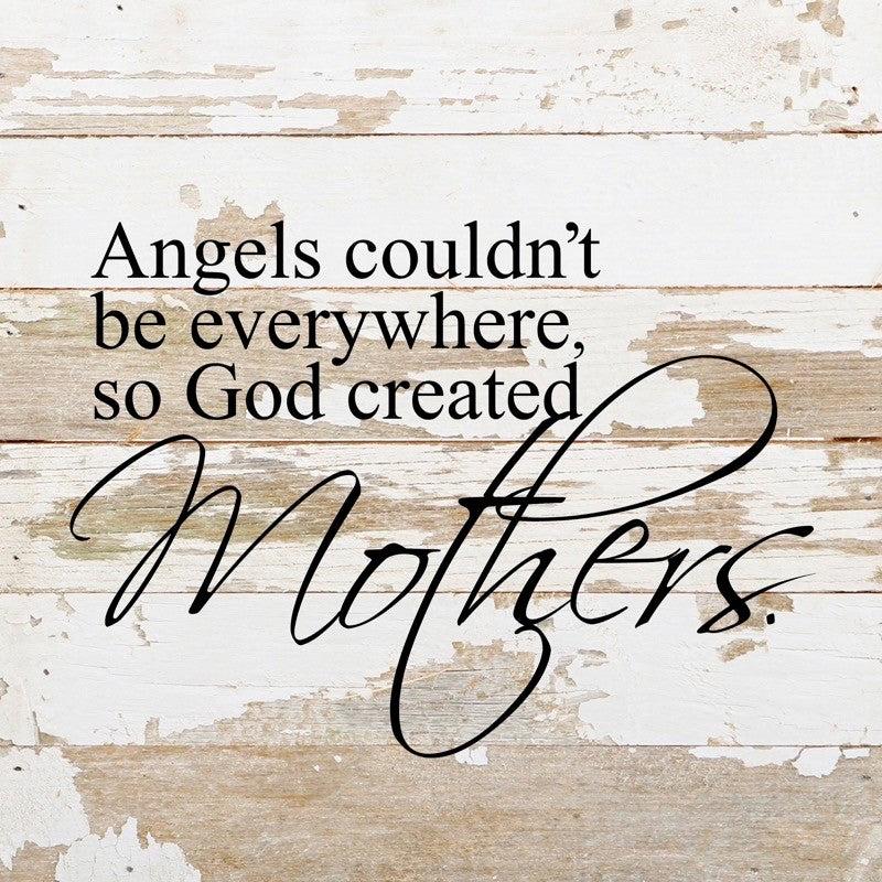 God Created Mothers Sign 10 x 10 - dolly mama boutique