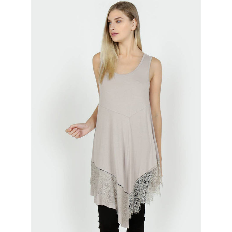 Sleeveless Asymmetrical Top - dolly mama boutique