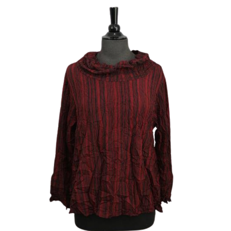 Hailey Cowl Blouse - dolly mama boutique