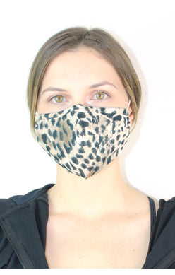 Fashion Print Masks with Crystal Detail - dolly mama boutique