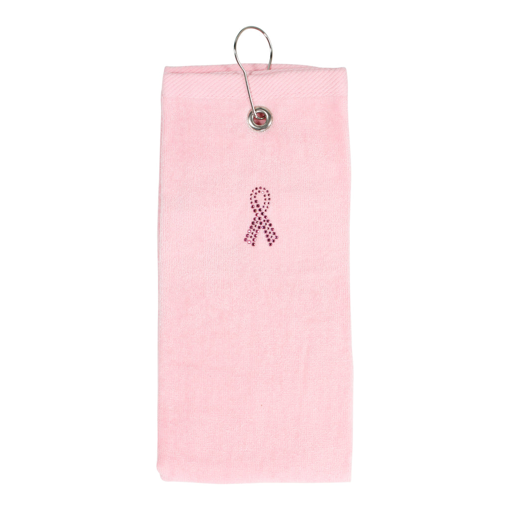 Susan G Pink Ribbon Collection Tri-Fold Golf Towel - dolly mama boutique