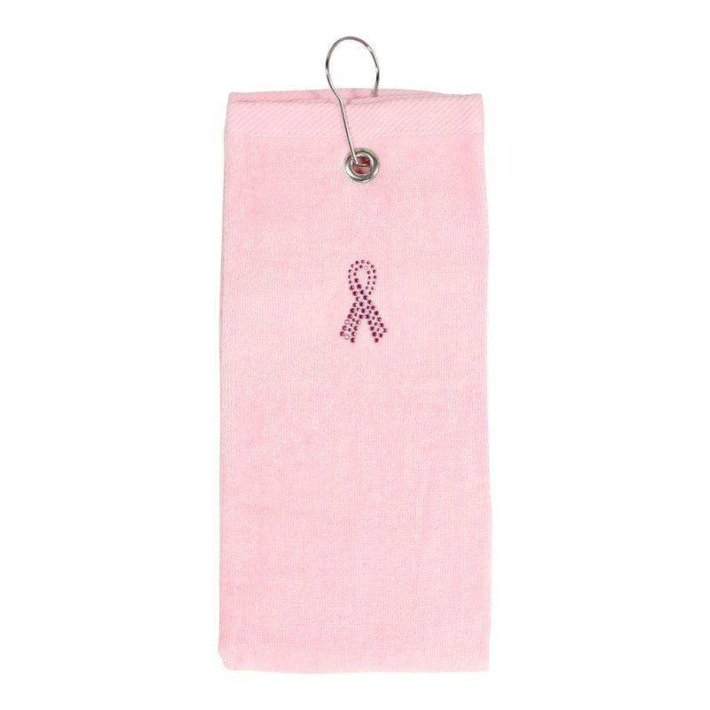Susan G Pink Ribbon Collection Tri-Fold Golf Towel