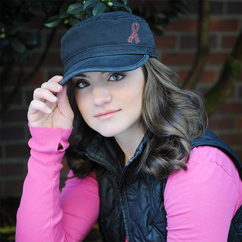 Susan G Pink Ribbon Military Cap