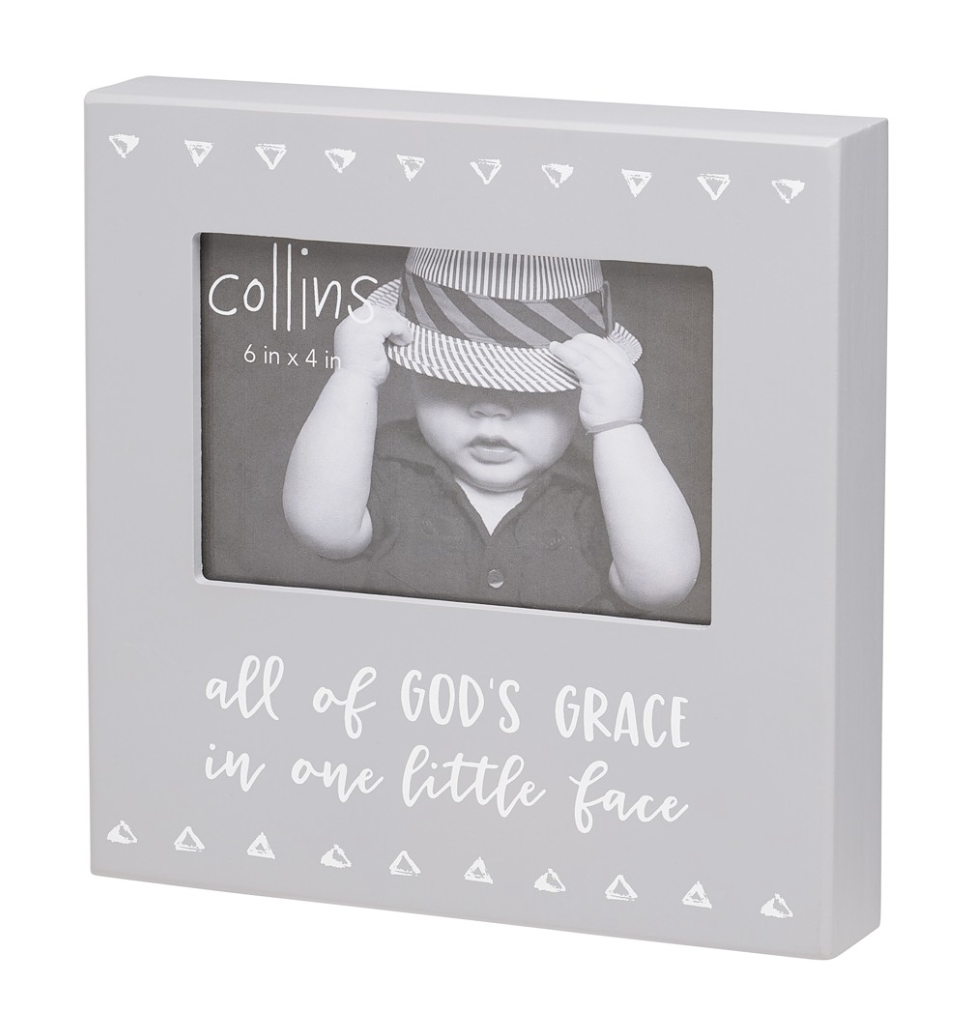 God's Grace Wooden Photo Frame - dolly mama boutique