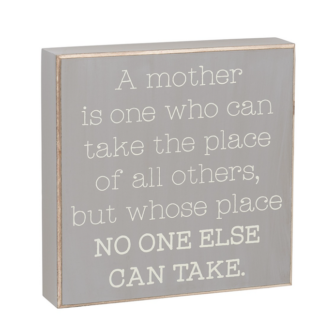Mother's Place Wooden Sign