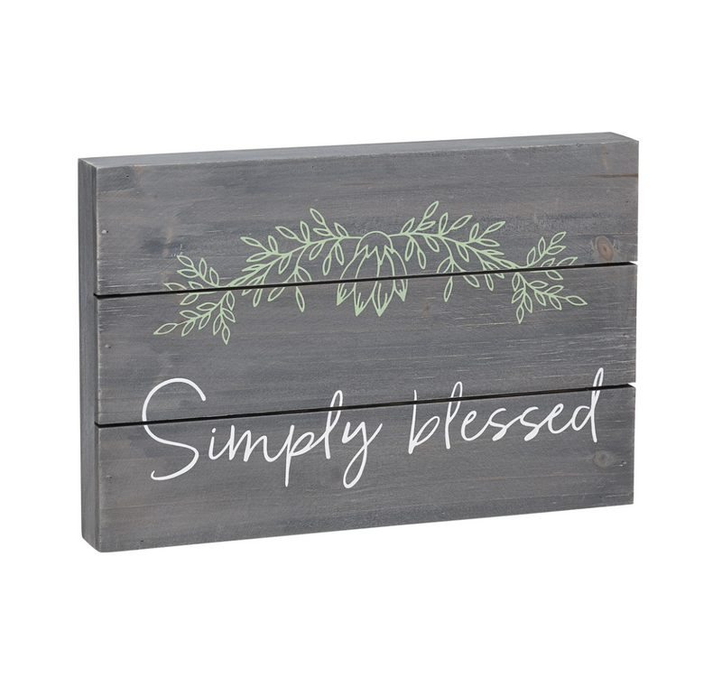 Simply Blessed Wooden Sign - dolly mama boutique