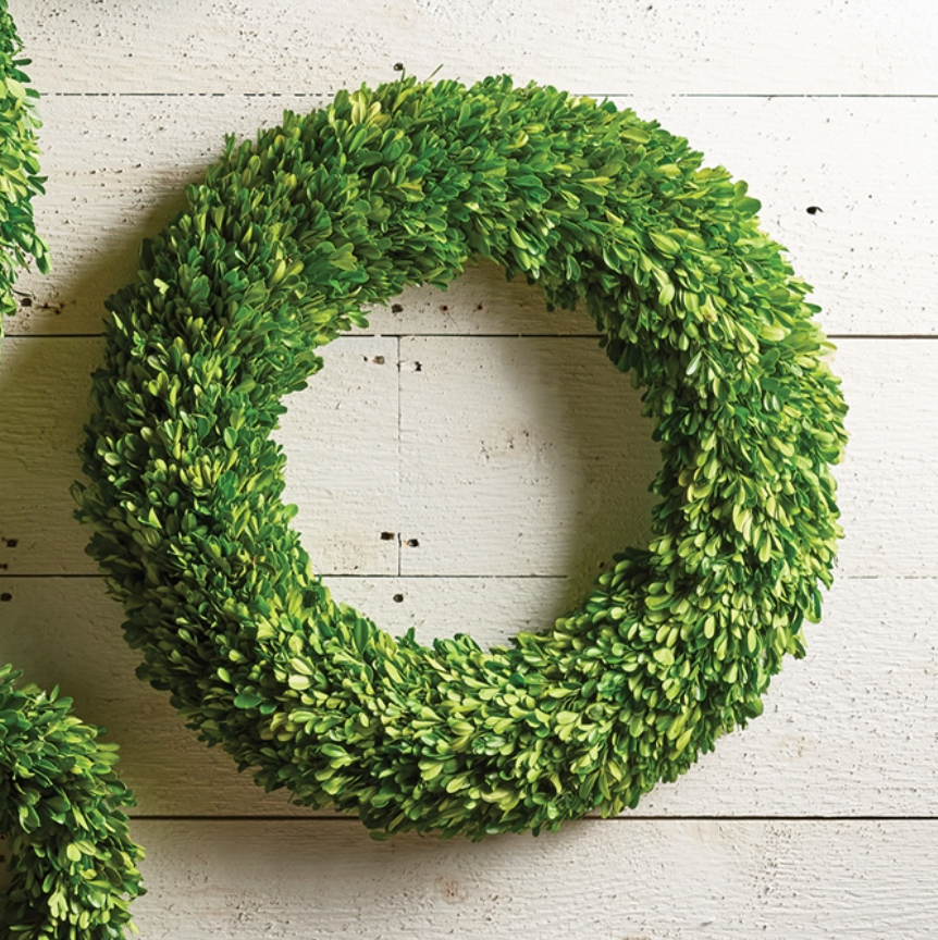 "BOXWOOD WREATH 24"" - dolly mama boutique"