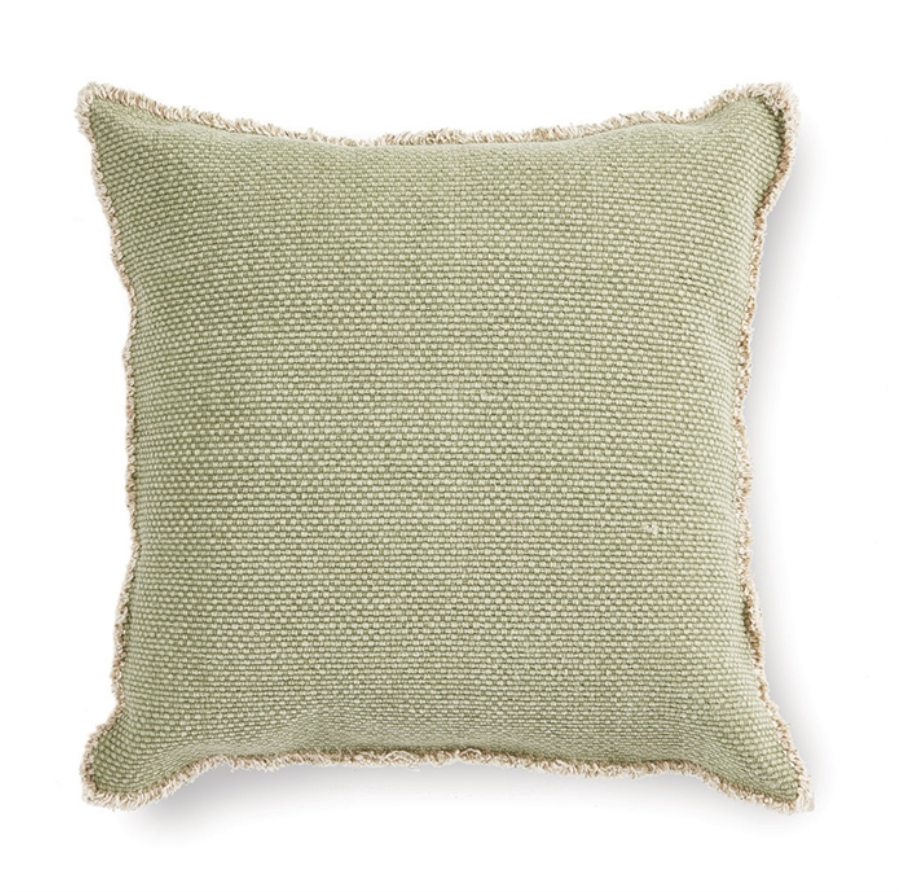 WOVEN FRINGED SQUARE PILLOW - dolly mama boutique