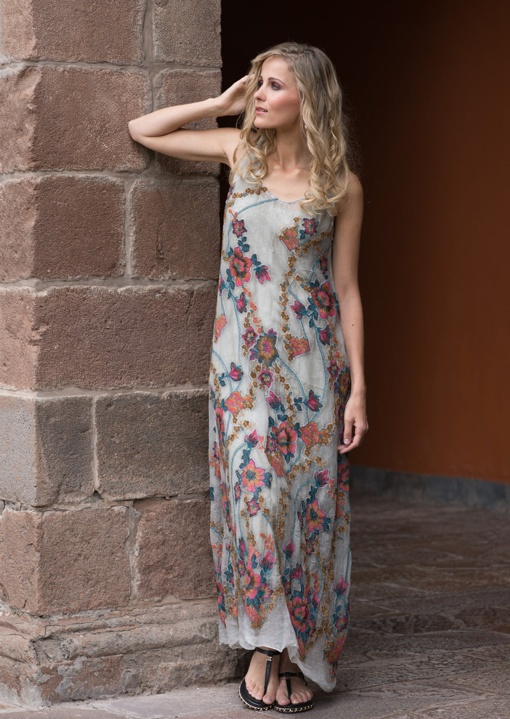 Floral Silk Dress - dolly mama boutique