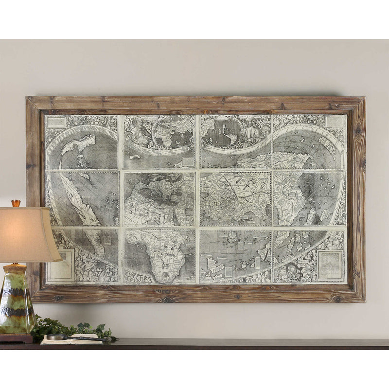 TREASURE MAP OIL REPRODUCTION - dolly mama boutique