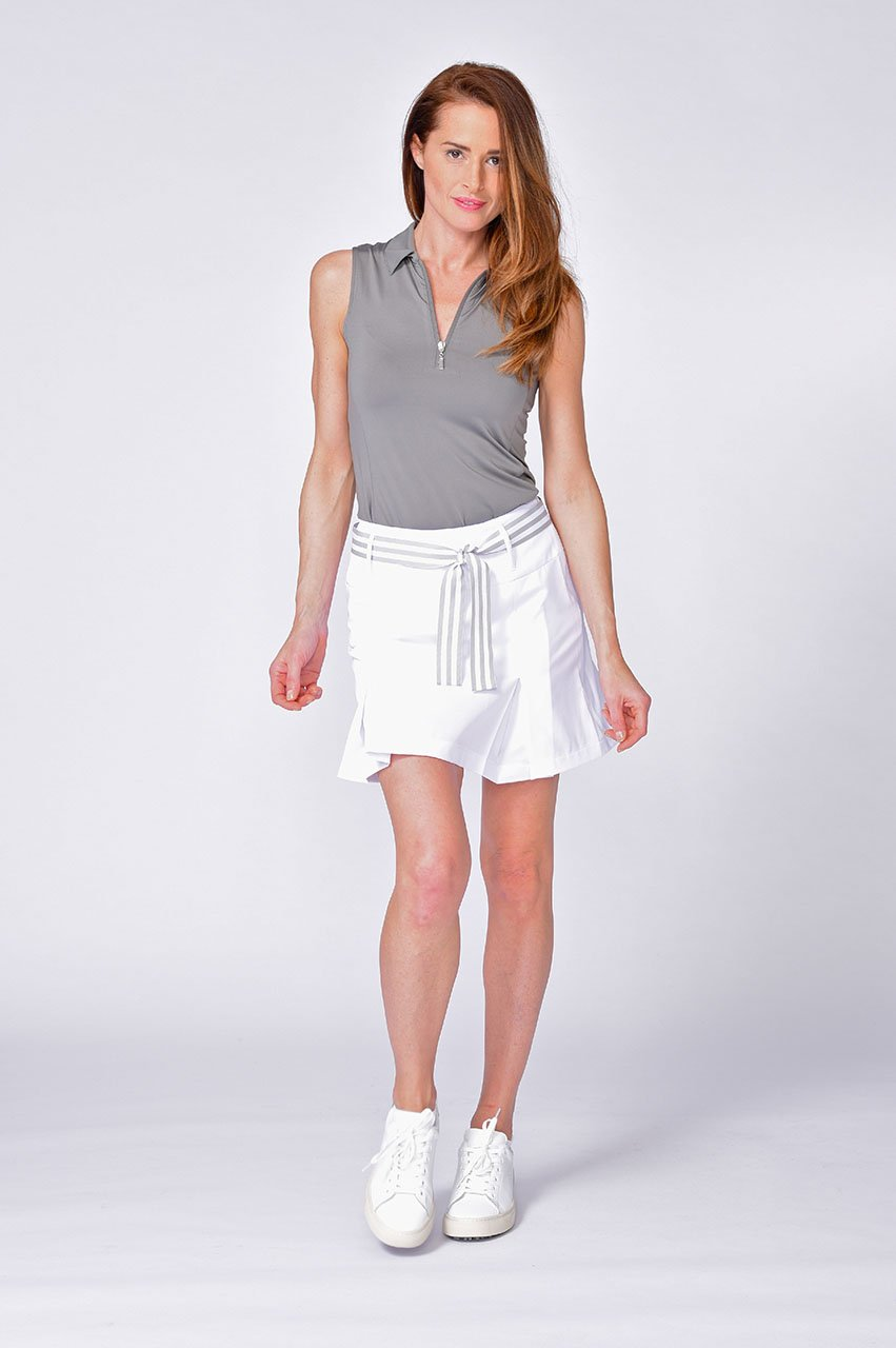 Blind Date Performance Skort - White - dolly mama boutique