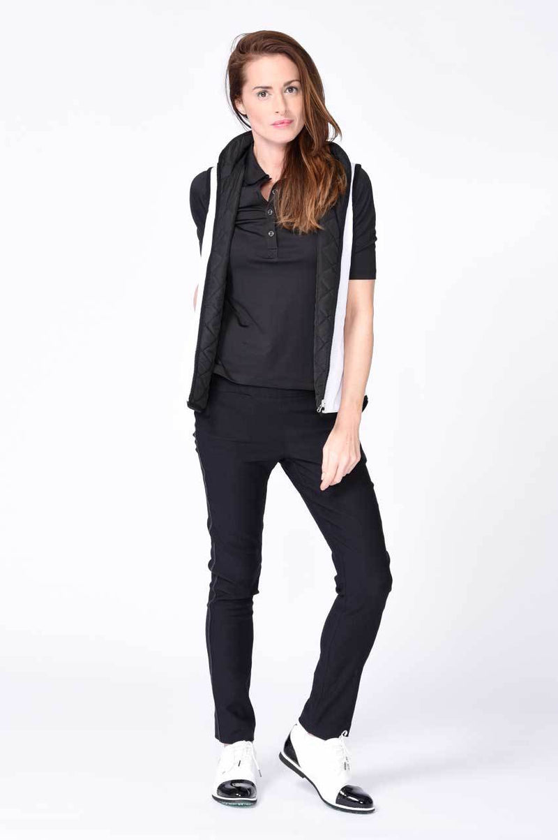 Black Trophy Pull-On Stretch Twill Pant - dolly mama boutique
