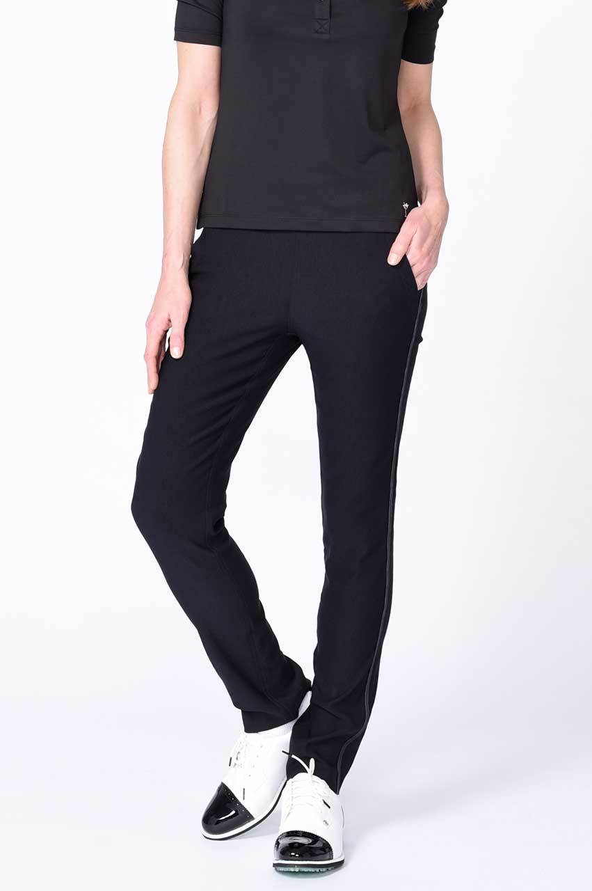 Black Trophy Pull-On Stretch Twill Pant