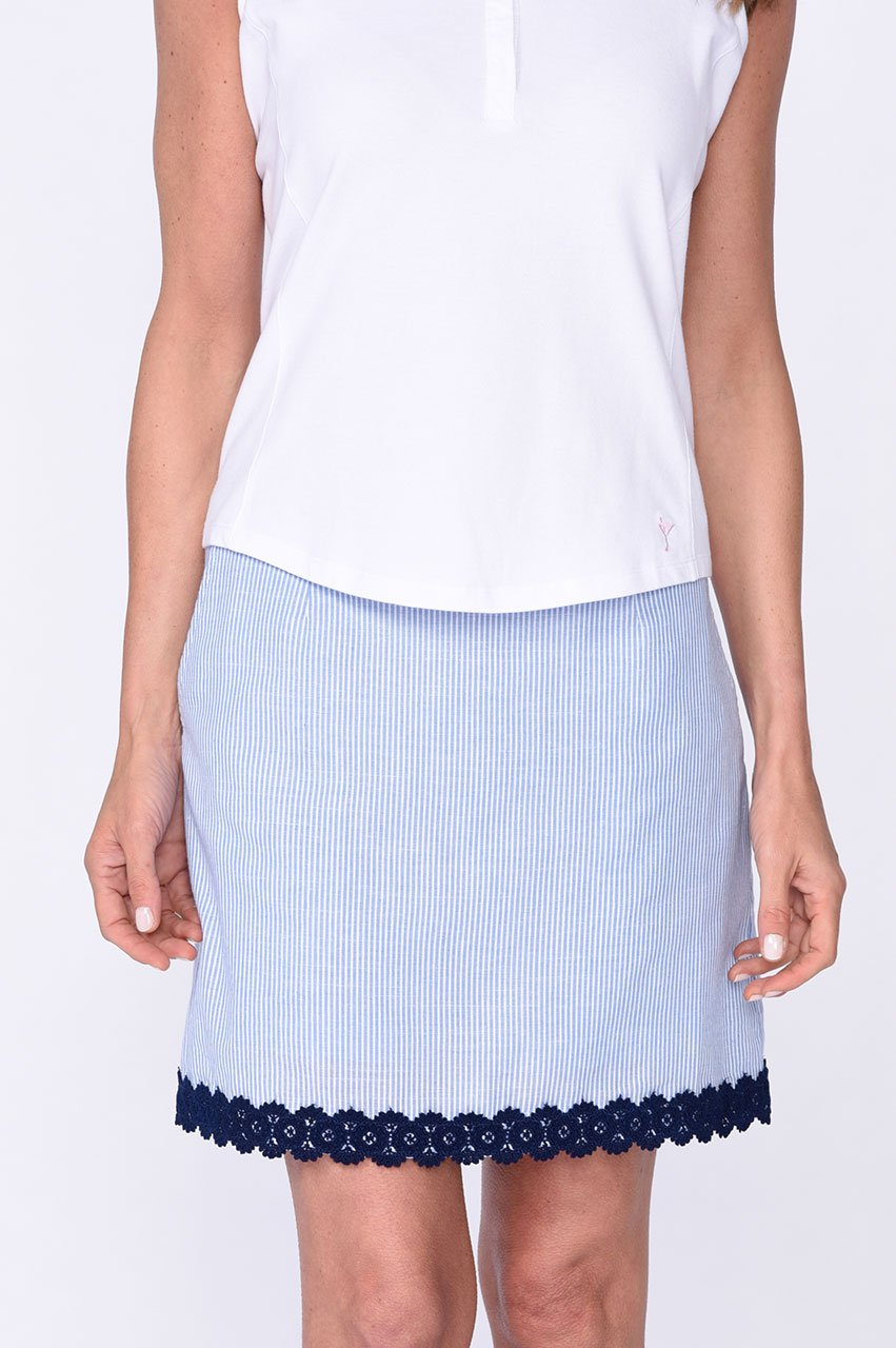 Fashion First Navy Stretch Cotton Skort