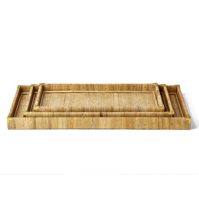 Oversized Rattan Trays - dolly mama boutique