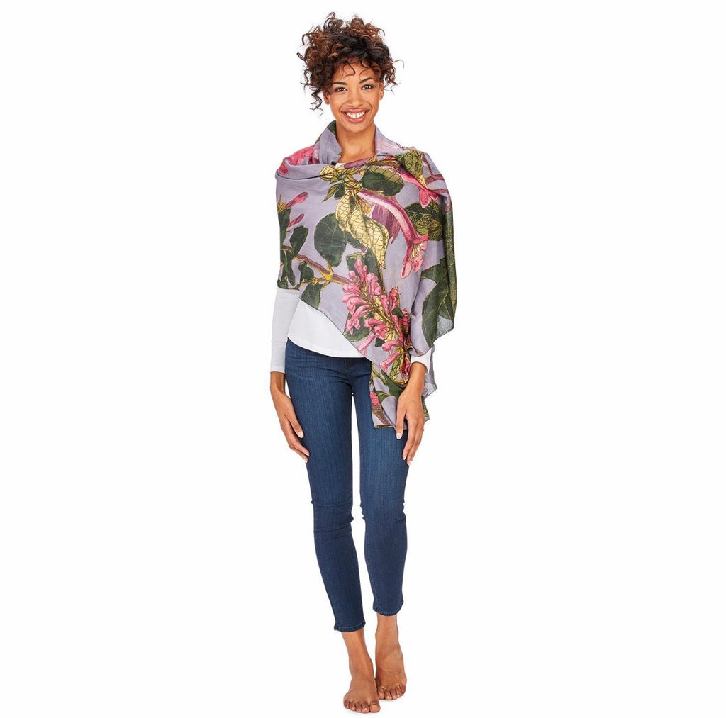 Grey Magnolia Scarf - dolly mama boutique