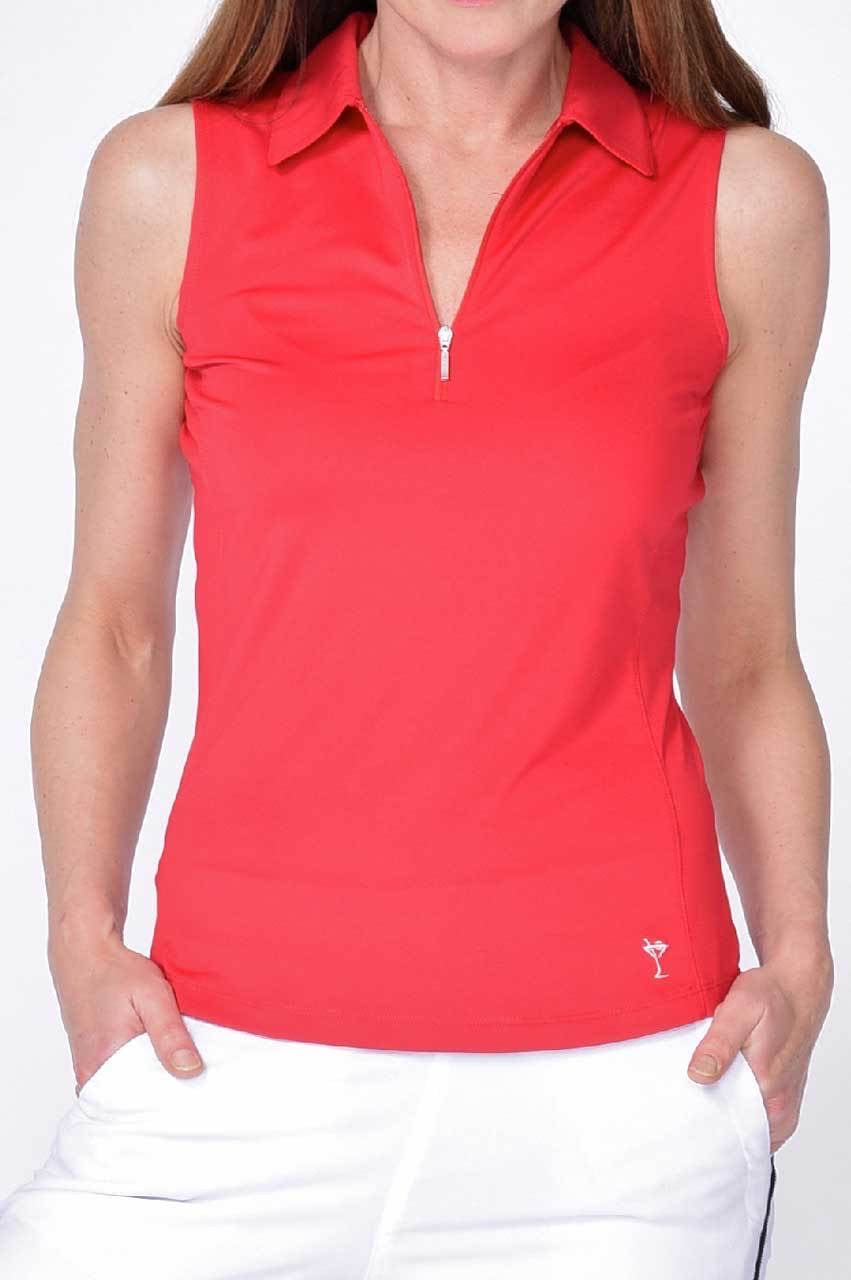 Sleeveless Zip Tech Polo