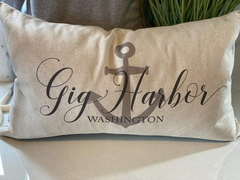 Gig Harbor Anchor Pillow - dolly mama boutique