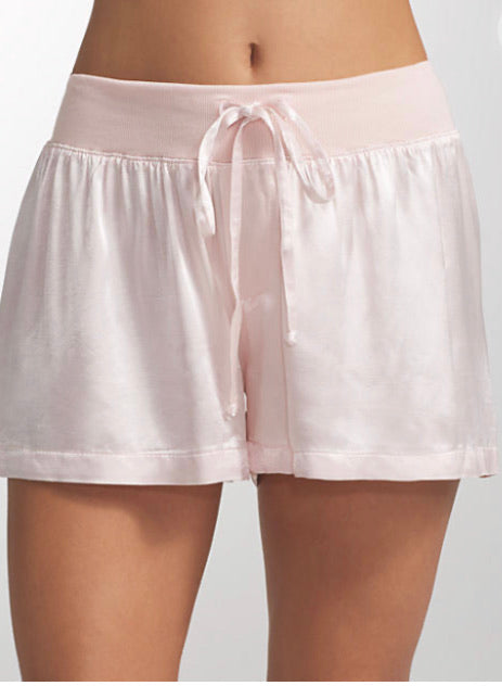PJ Harlow Lounge Mikel Satin Boxer in Blush